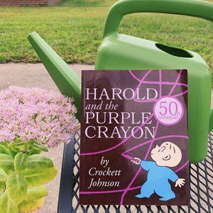 1983 Vintage Harold & The Purple Crayon Kids Book
